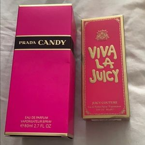 2 box only of  prada candy and viva la juicy